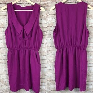 Silence + Noise Fushia Sleeveless Pretty Dress